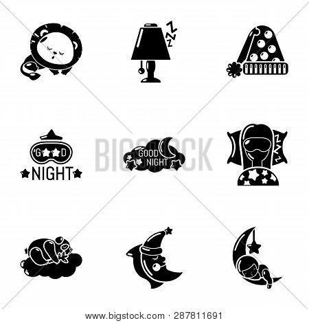 Sweet Hibernation Icons Set. Simple Set Of 9 Sweet Hibernation Icons For Web Isolated On White Backg
