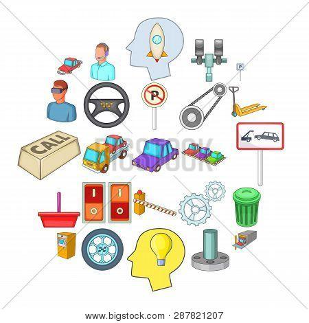 Expertise Icons Set. Cartoon Set Of 25 Expertise Icons For Web Isolated On White Background