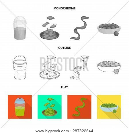 Vector design of protein and sea sign. Collection of protein and natural stock vector illustration. poster