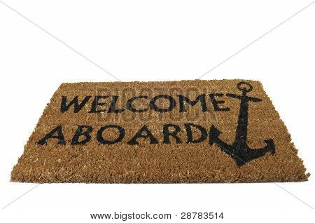 Welcome Aboard Mat, Tilted
