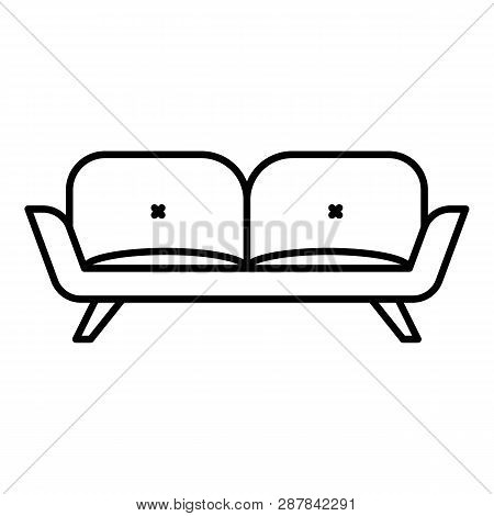 Divan Sofa Icon. Outline Divan Sofa Icon For Web Design Isolated On White Background