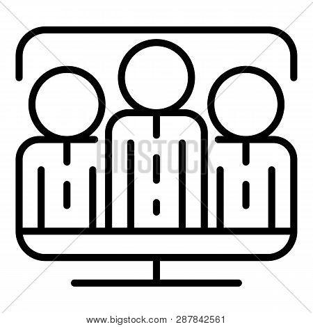 Vlog Folower Icon. Outline Vlog Folower Icon For Web Design Isolated On White Background