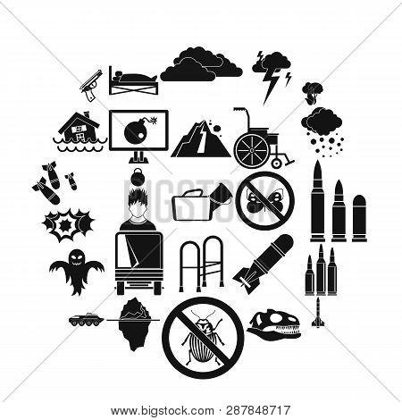 Fright Icons Set. Simple Set Of 25 Fright Icons For Web Isolated On White Background