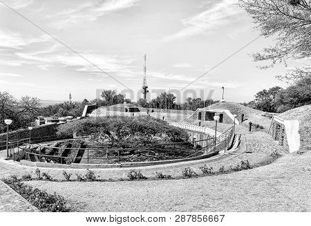Pretoria, South Africa, July 31, 2018: A View Of The Historic Fort Schanskop, Built In 1897. It Was