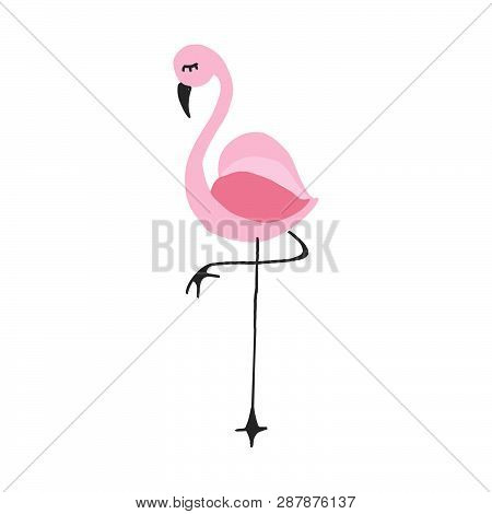 Flamingo Icon. Vector Illustration Of A Flamingo. Flamingo Hand Drawn.