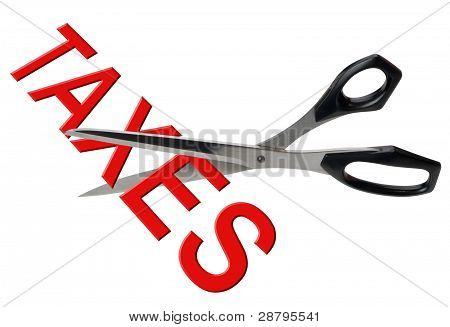 Cutting taxes, isolated