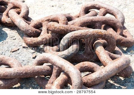 Old rusty chain