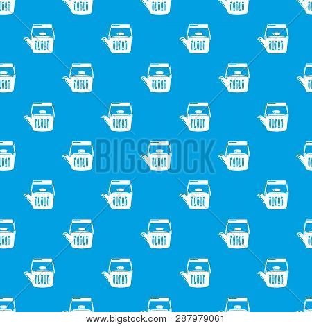 Teatime Pattern Vector Seamless Blue Repeat For Any Use