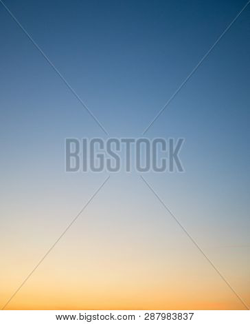 Colorful Clear Sky Without Cloud At Twilight Time Before Sunrise, Clear Morning Sky Before Sunrise