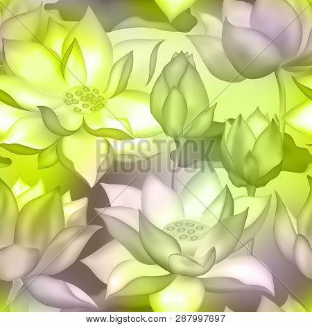 Lotus Buds Flowers Vector Photo Free Trial Bigstock