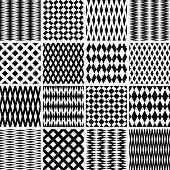 Geometric textures. Seamless patterns set. Vector art. poster