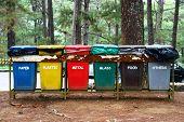 color coded trash bins for waste segregation poster