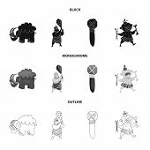 Vector design of evolution  and prehistory sign. Set of evolution  and development  stock symbol for web. poster