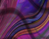 Optical Art Waves 04 Deep Color Rainbow poster