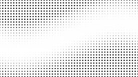 Halftone Gradient Pattern. Abstract Halftone Dots Background. Monochrome Dots Pattern. Pop Art, Comi