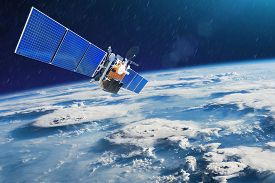 Weather Satellite For Observing Powerful Thunderstorms Of Storms And Tornadoes In Space Orbiting The