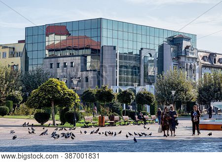 Targu-jiu, Romania-september 25: Bankpost Bank Headquarters On September 25, 2020 In Targu-jiu.