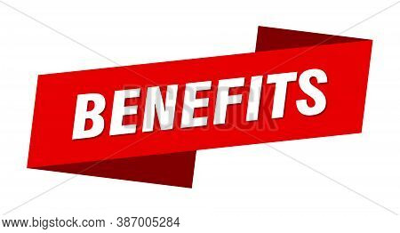 Benefits Banner Template. Benefits Ribbon Label Sign