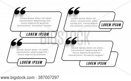 Speedy Quotes Template In Line Style Vector Design Illustration