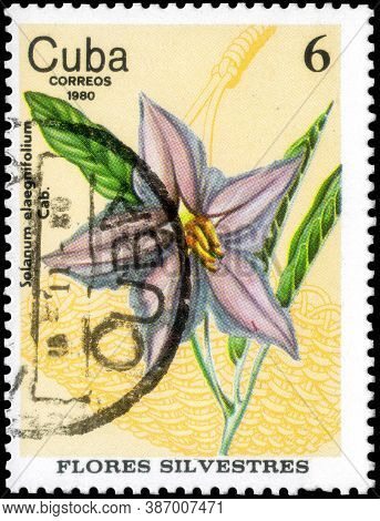 Saint Petersburg, Russia - September 18, 2020: Postage Stamp Issued In The Cuba The Image Of The Sil