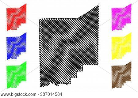 Jennings County, Indiana (u.s. County, United States Of America, Usa, U.s., Us) Map Vector Illustrat