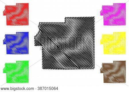 Morgan County, Indiana (u.s. County, United States Of America, Usa, U.s., Us) Map Vector Illustratio