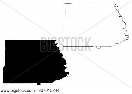 Copiah County, Mississippi (u.s. County, United States Of America, Usa, U.s., Us) Map Vector Illustr