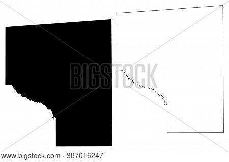 Covington County, Mississippi (u.s. County, United States Of America, Usa, U.s., Us) Map Vector Illu