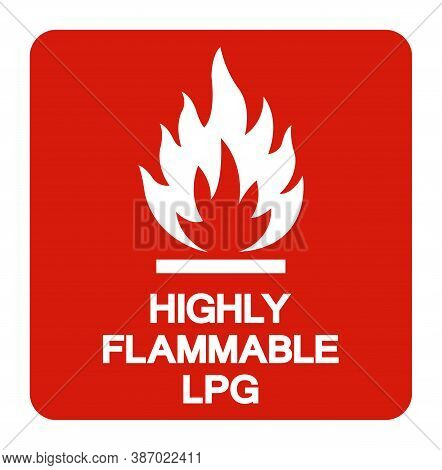 Highly Flammable Lpg Symbol Sign ,vector Illustration, Isolate On White Background Label .eps10