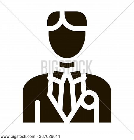 Candidate Appearance Glyph Icon Vector. Candidate Appearance Sign. Isolated Symbol Illustration