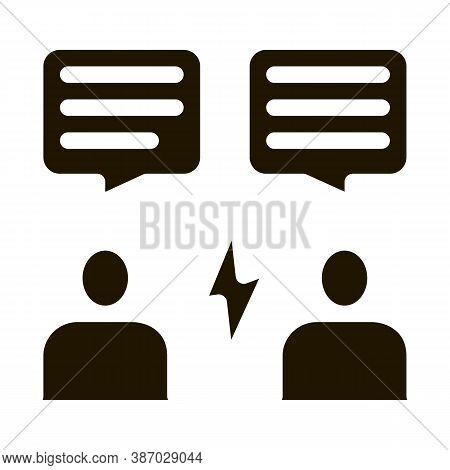 Voting Debate Glyph Icon Vector. Voting Debate Sign. Isolated Symbol Illustration