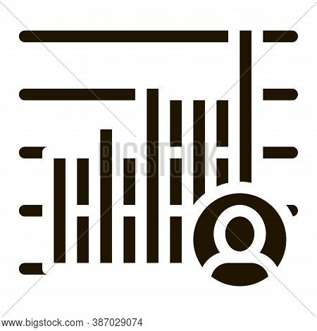 Candidate Statistics Glyph Icon Vector. Candidate Statistics Sign. Isolated Symbol Illustration