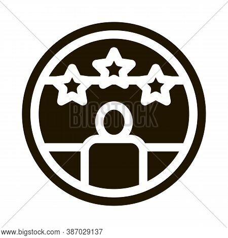 Voter Winner Glyph Icon Vector. Voter Winner Sign. Isolated Symbol Illustration