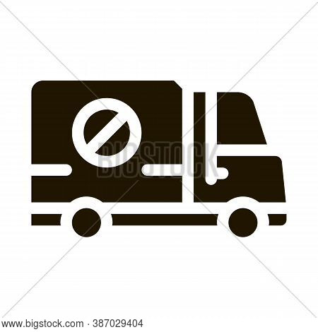 Kill Truck Glyph Icon Vector. Kill Truck Sign. Isolated Symbol Illustration