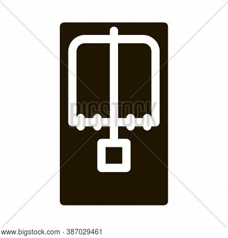 Mousetrap Above View Glyph Icon Vector. Mousetrap Above View Sign. Isolated Symbol Illustration
