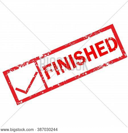 Finish Stamp Sign. Finish Grunge Rubber Stamp On White Background.