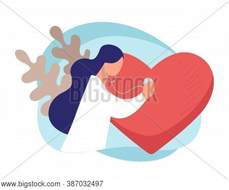 Cardiologist Listening To Heart Beat, Doctor With Stethoscope
