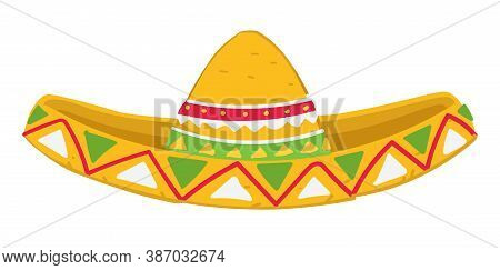 Mexican Hat With Ornaments, Sombrero Headwear With Decor