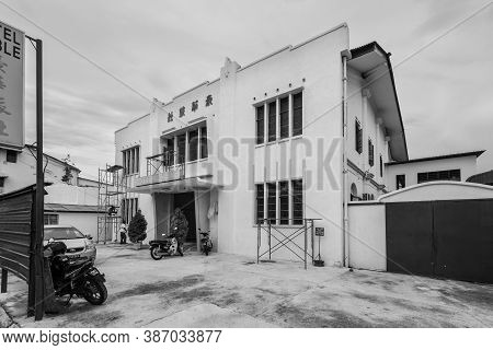 George Town, Penang, Malaysia - December 1, 2019: View Of The Hotel Noble Located In George Town, Pe