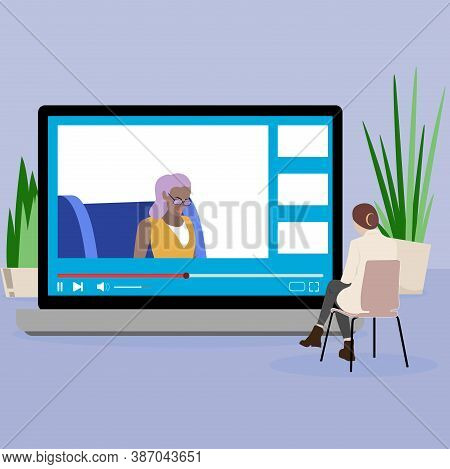 Psychotherapy Mental Online, Psychology Help And Consultation. Helpline Depression, Conversation And