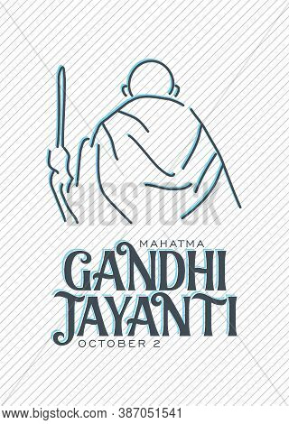 Gandhi Jayanti Is An Event Celebrated In India To Mark The Birth Anniversary Of Mahatma Gandhi, Vect