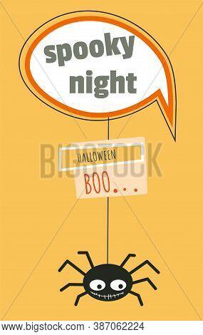 Spooky Night Halloween Party, Autumn Holiday Celebration Vector