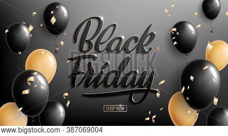 Black Friday Lettering. Ad, Poster, Sign Board Design Layout.