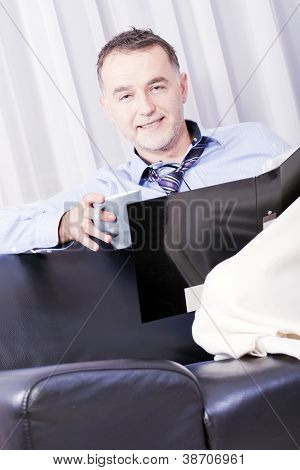 Businessman Working In Your Home.