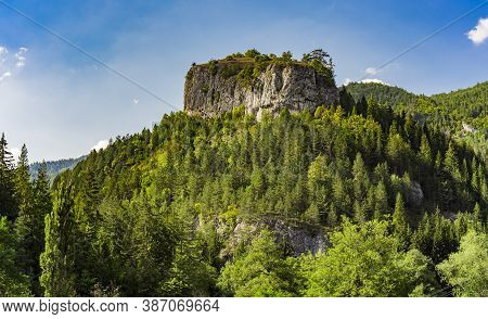 Distance View On The Ravna Stena (flat Rock) Of Mountain Tara In Serbia At Summer