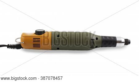Manicure Cutter Isolated On White Background. A Manual Drill For Manicure, Pedicure And Work With An