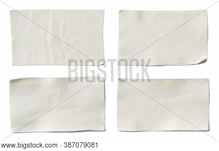 Menthol Plaster Stickers Label (with Clipping Path) Isolated On White Background