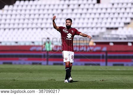 Torino, Italy. 26th September 2020. Tomas Rincon  Of Torino Fc  During The The Serie A Match  Betwee