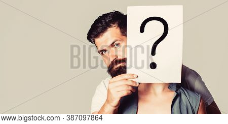 Man A Question, Anonymous, Incognita. Man Holding Question Mark. Question Mark, Symbol. Anonymous Gi