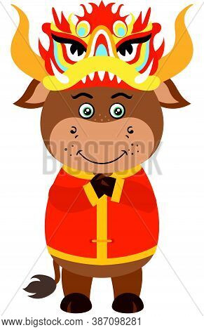 Scalable Vectorial Representing A Chinese Zodiac Sign Year Of Ox, Element For Design, Illustration I
